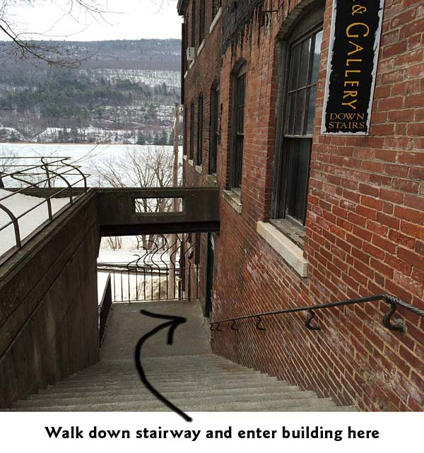 stairway to the Hooker-Dunham Theater & Gallery